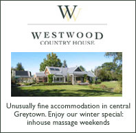 Westwood Country House and Cherry Cottage, Greytown accommodation, NZ